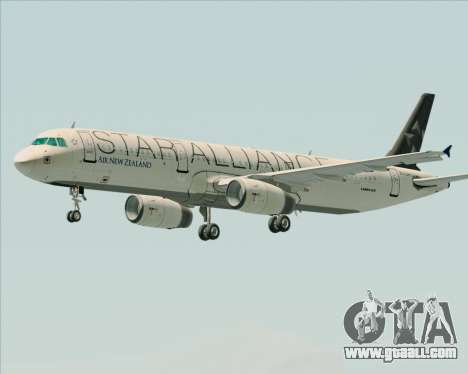 Airbus A321-200 Air New Zealand (Star Alliance) for GTA San Andreas wheels