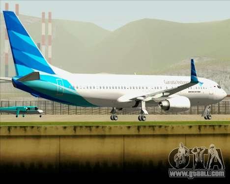 Boeing 737-800 Garuda Indonesia for GTA San Andreas upper view