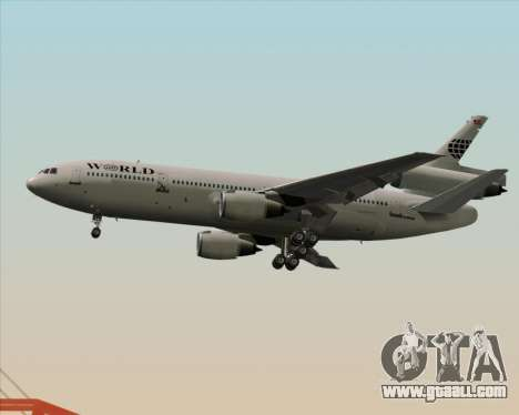 McDonnell Douglas DC-10-30 World Airways for GTA San Andreas back left view