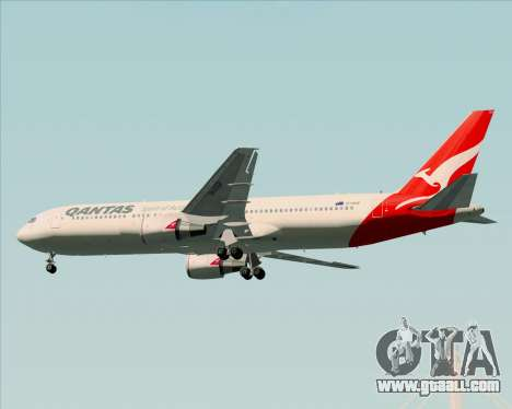 Boeing 767-300ER Qantas (New Colors) for GTA San Andreas wheels