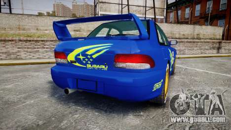 Subaru Impreza WRC 1998 World Rally for GTA 4 back left view
