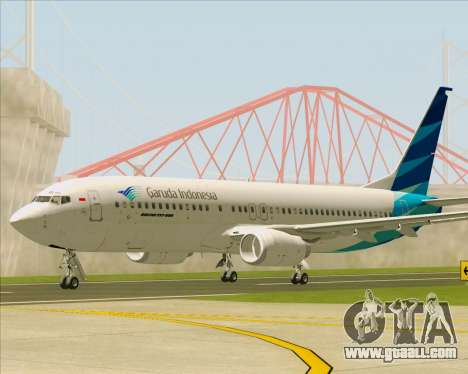 Boeing 737-800 Garuda Indonesia for GTA San Andreas left view