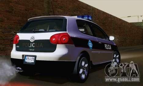 Volkswagen Golf 5 (ELM) for GTA San Andreas left view