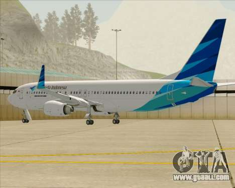 Boeing 737-800 Garuda Indonesia for GTA San Andreas engine