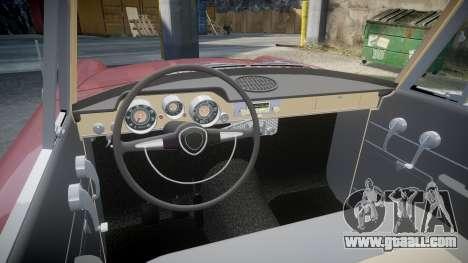 FSO Warszawa Ghia Kombi 1959 for GTA 4 inner view