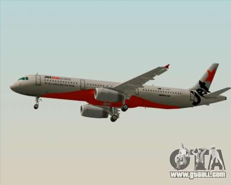 Airbus A321-200 Jetstar Airways for GTA San Andreas back left view