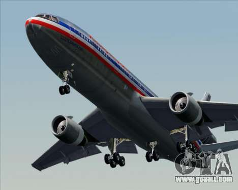McDonnell Douglas DC-10-30 American Airlines for GTA San Andreas upper view