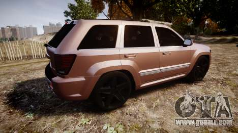 Jeep Grand Cherokee SRT8 rim lights for GTA 4 left view
