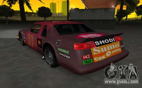 New decals and non Hotring for GTA San Andreas back left view