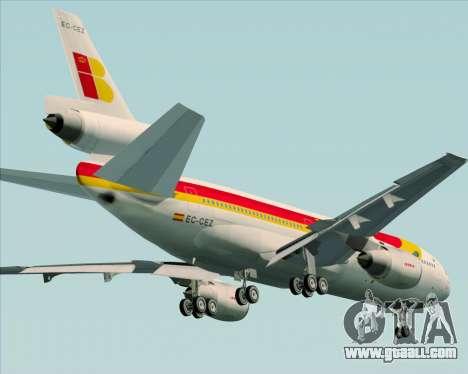 McDonnell Douglas DC-10-30 Iberia for GTA San Andreas upper view