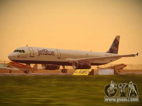 Airbus A321-232 jetBlue La vie en Blue for GTA San Andreas