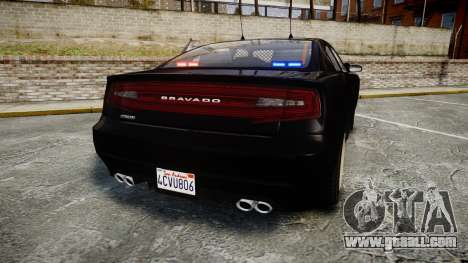 GTA V Bravado Buffalo Unmarked [ELS] Slicktop for GTA 4 back left view