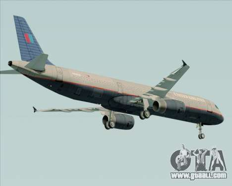 Airbus A321-200 United Airlines for GTA San Andreas right view