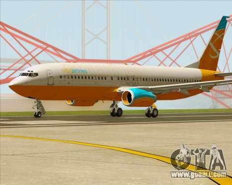 Boeing 737-800 Orbit Airlines for GTA San Andreas back left view