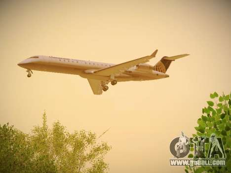 Bombardier CRJ-700 Continental Express for GTA San Andreas right view