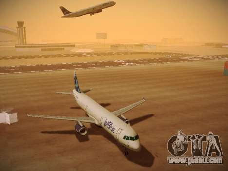 Airbus A321-232 jetBlue La vie en Blue for GTA San Andreas inner view
