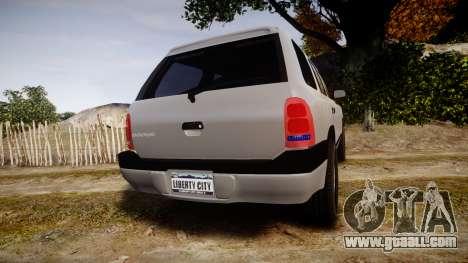 Dodge Durango 2000 Undercover [ELS] for GTA 4 back left view