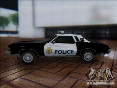 Chevrolet Monte Carlo 1973 Police for GTA San Andreas left view