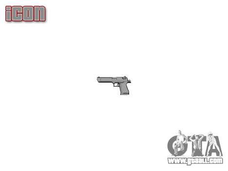 Пистолет IMI Desert Eagle Mk XIX Chrome for GTA 4 third screenshot