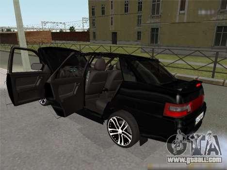 VAZ 2110 XN for GTA San Andreas back left view