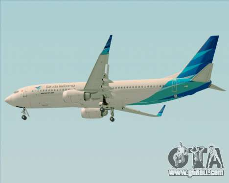 Boeing 737-800 Garuda Indonesia for GTA San Andreas right view