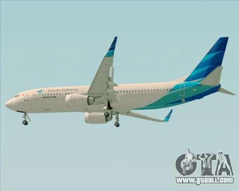Boeing 737-800 Garuda Indonesia for GTA San Andreas right view