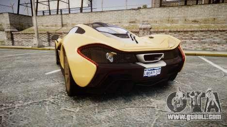 McLaren P1 [EPM] for GTA 4 back left view