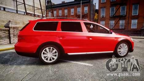 Volkswagen Passat 2014 Unmarked Police for GTA 4 left view
