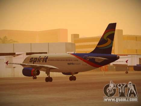 Airbus A319-132 Spirit Airlines for GTA San Andreas right view