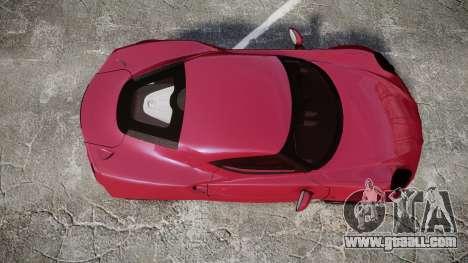 Alfa Romeo 4C for GTA 4 right view
