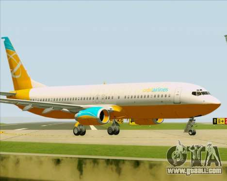 Boeing 737-800 Orbit Airlines for GTA San Andreas inner view