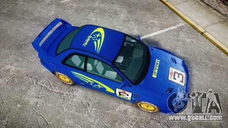 Subaru Impreza WRC 1998 World Rally for GTA 4 right view