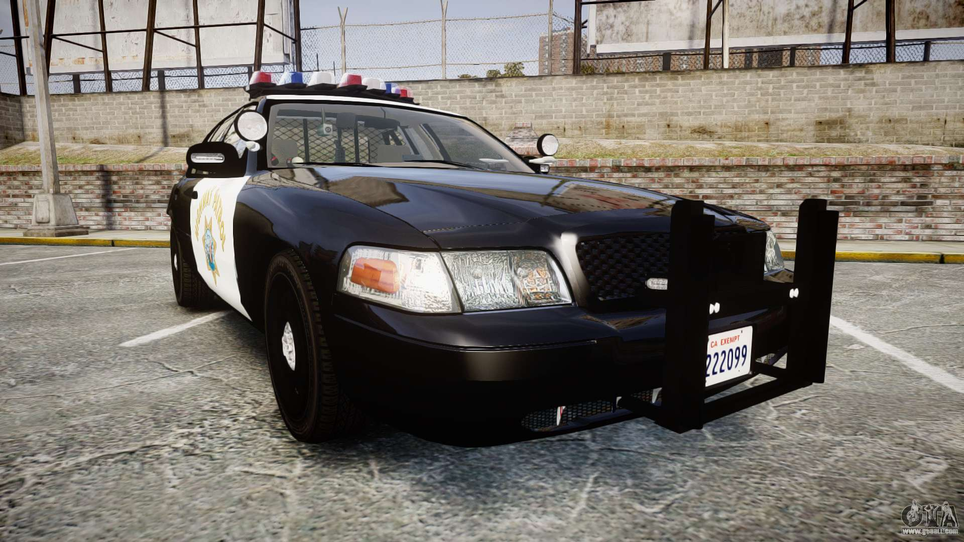 ford crown victoria chp cvpi vision els for gta 4