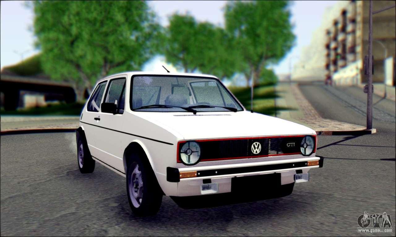 Volkswagen Type 2 >> Volkswagen Golf Mk1 for GTA San Andreas