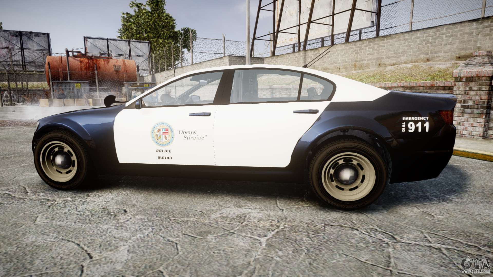 GTA V Cheval Fugitive LS Police [ELS] Slicktop for GTA 4
