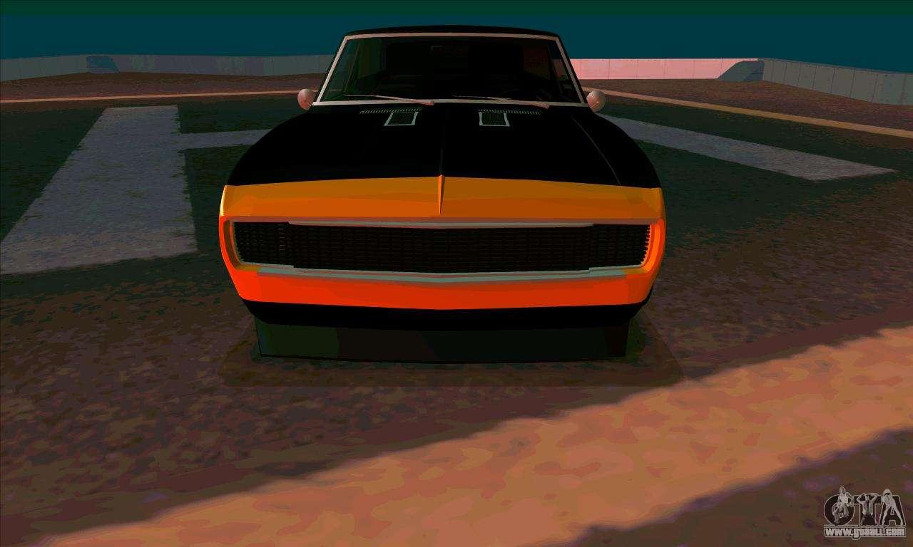 Sport Cars Emblems >> Chevrolet Camaro SS 1967 (Bumblebee) for GTA San Andreas