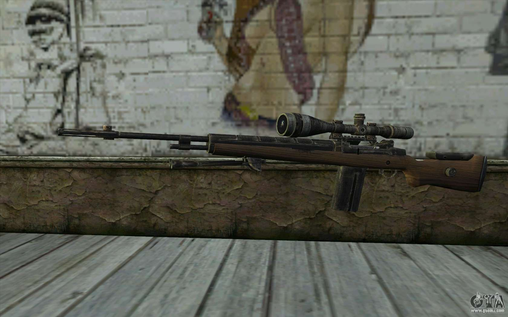 M21 From Battlefield Vietnam For Gta San Andreas