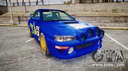 Subaru Impreza WRC 1998 Rally v3.0 Yellow for GTA 4