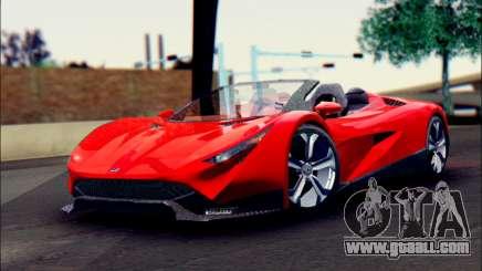 Specter Roadster 2013 (SA Plate) for GTA San Andreas