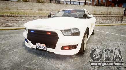 GTA V Bravado Buffalo LS Sheriff White [ELS] Sli for GTA 4