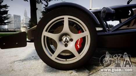 Ariel Atom V8 2010 [RIV] v1.1 Rosso & Bianco for GTA 4 back view