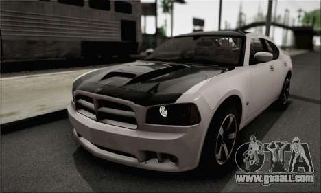 Dodge Charger SuperBee for GTA San Andreas back view
