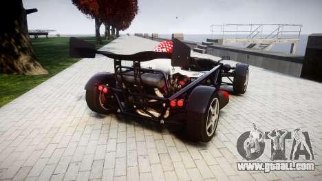 Ariel Atom V8 2010 [RIV] v1.1 Rosso & Bianco for GTA 4 back left view