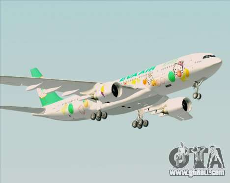 Airbus A330-200 EVA Air (Hello Kitty) for GTA San Andreas right view