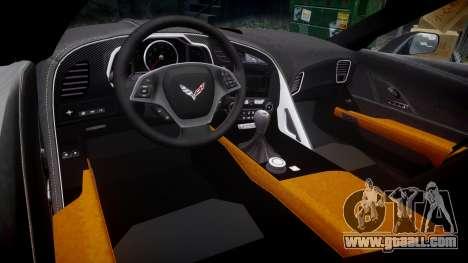 Chevrolet Corvette C7 Stingray 2014 v2.0 TireBr3 for GTA 4 inner view