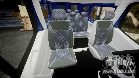 Renault Trafic Passenger for GTA 4 inner view