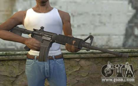 M4 from Sniper Warrior-Ghost for GTA San Andreas third screenshot