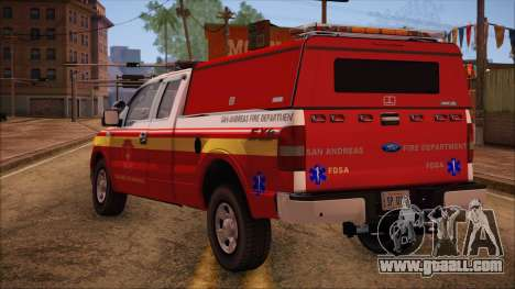 Ford F150 Fire Department Utility 2005 for GTA San Andreas left view