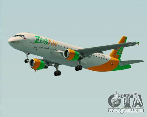 Airbus A320-200 Zest Air for GTA San Andreas right view