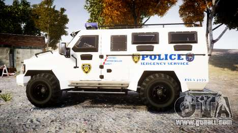 SWAT Van Police Emergency Service [ELS] for GTA 4 left view